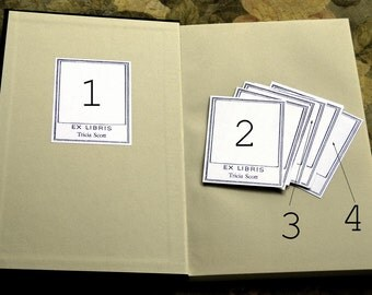 Mix and Match Bookplate Set--Personalized or Blank