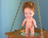 Vintage Small Eegee Rubber Doll 1966 3A Swivel Head