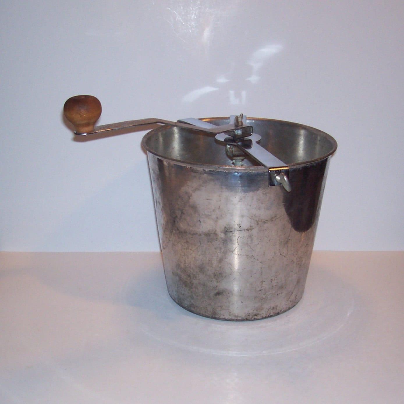Vintage Bread Dough Mixer Maker Metal with Wood Handle