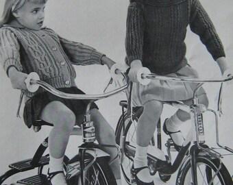 Knitting Pattern Book Columbia-Minerva Vintage 1950s Vintage