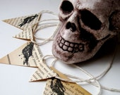 The Raven Halloween Garland - Edgar Allan Poe Pennant Banner