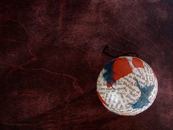 Christmas Ornament - A Christmas Carol Ball Ornament  - Charles Dickens Literary Decorative Ball No. 4