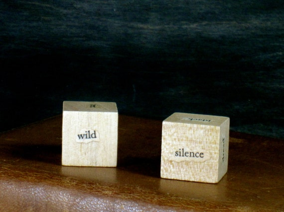Pair O' Poe Writer Dice - Inspiration and Writing Prompt Cubes from Edgar Allan Poe (Set 3) - Gift for Writers