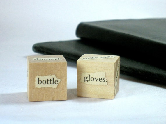 Alice in Wonderland - Unblockers Writing Prompt Wood Dice Pair Gift for Writers or Teachers from Lewis Carroll (Set no. 2) Cyber Monday Etsy