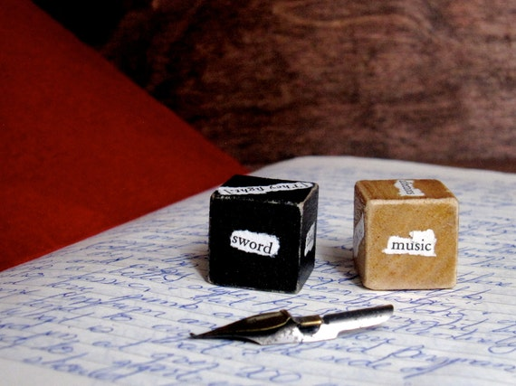 Shakespeare ComedyTragedy Unblockers Writer Dice Storytelling Writing Aid with Words from Shakespeare's Complete Works Writer Gift