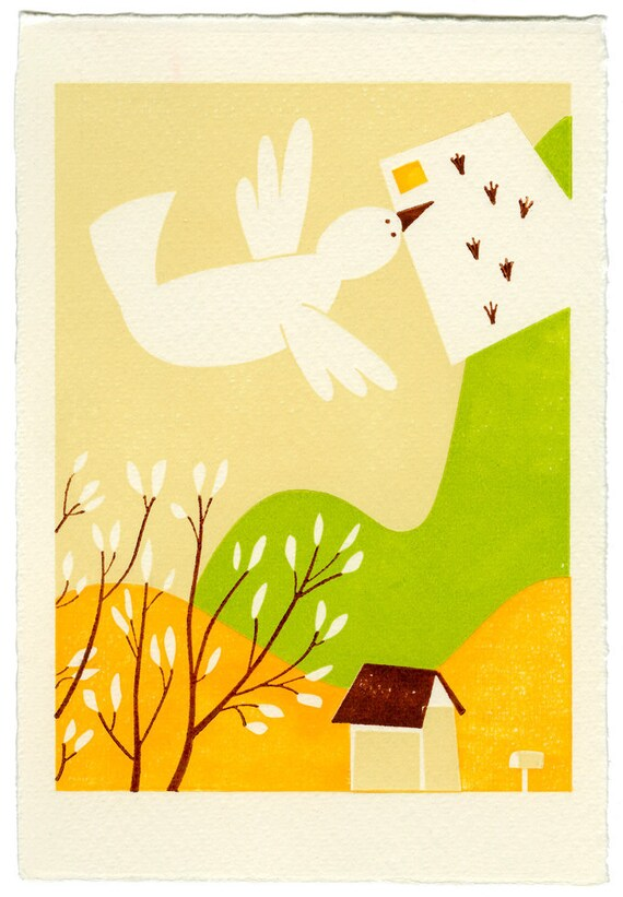 The Invitation. A limited edition letterpress print