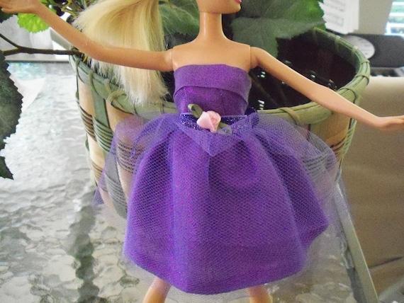 barbie doll dress SALE purple glimmer mini party dress