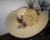 The Khaki Brown Azalea Cheeta Dahila Hat