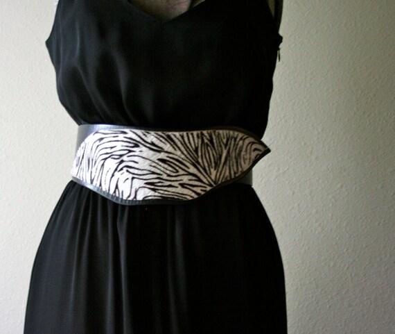 80s Zebra Belt