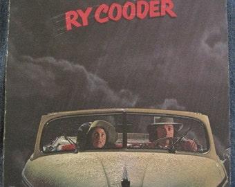 RY COODER Into The Purple Valley lp 1972 Original Vinyl Record Album With Lyric INSERT