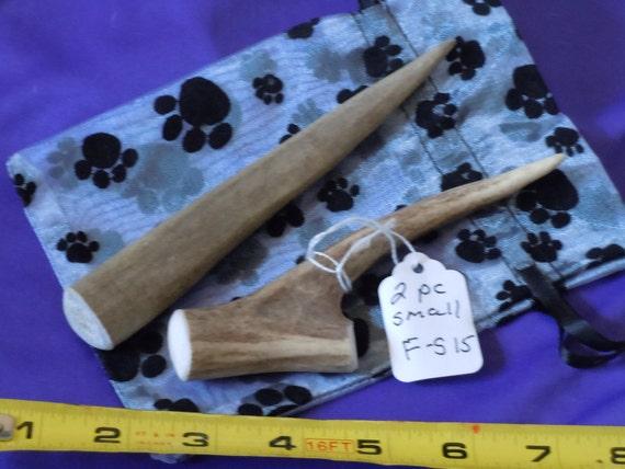 2 piece SMALL Deer Antler Dog Chews, F-S15