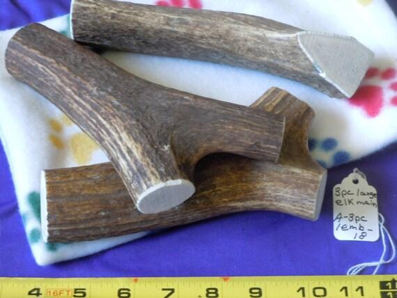 3 Piece  Large Elk Main Beam Deer Antler Dog Chews, A-3PCLEMB-18