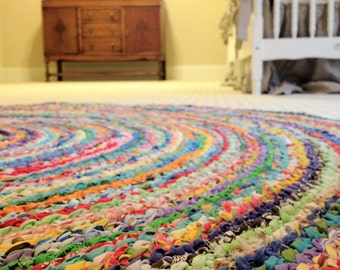 CUSTOM Round Rug - you pick size & colors