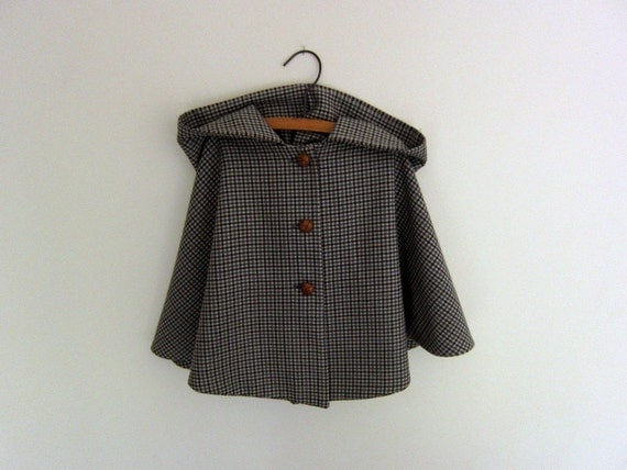 Childs Wool Cape - vintage style