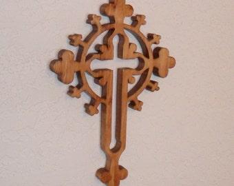 Wooden Wall Cross C19