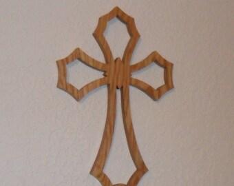 Wooden Wall Cross C54