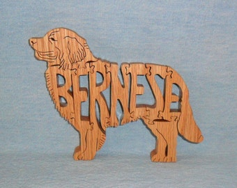 Bernese Mountain Dog Wooden Puzzle