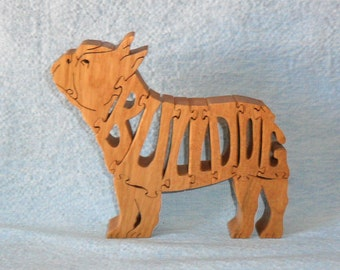 French Bulldog (Standing) Handmade Scroll Saw Wooden Puzzle