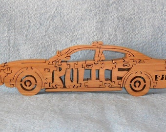 Police Car Wooden Puzzle