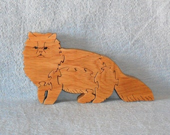 Persian Cat Breed (Walking) Wooden Puzzle