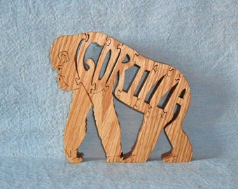Gorilla Wooden Scroll Saw Puzzle