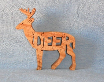 Deer (Standing) Wooden Scroll Saw Puzzle