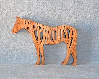 Appaloosa Horse Scroll Saw Wooden Puzzle