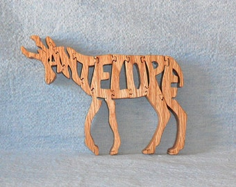 Antelope Wooden Puzzle