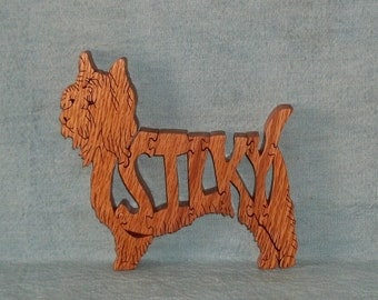 Silky (Terrier)  Dog Wooden Puzzle