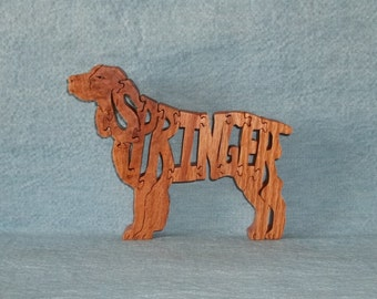 Springer (Spaniel) Dog Dog Breed Scroll Saw Wooden Puzzle