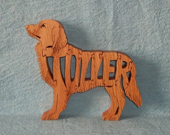 Toller (Nova Scotia Duck Tolling Retriever) Dog Breed Wooden Puzzle