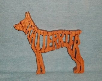 Rat Terrier Dog Breed Scroll Saw Wooden Pet Lover Puzzle