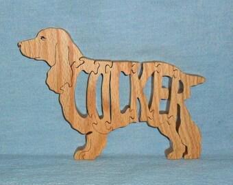 Cocker (Spaniel) Dog Wooden Puzzle