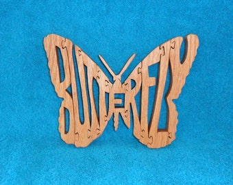 Butterfly Scroll Saw Wooden Puzzle