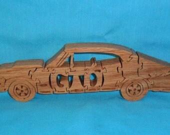 Vintage Pontiac GTO Car Handmade Scroll Saw Wooden Puzzle