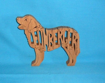 Leonberger Dog Breed Scroll Saw Wooden Pet Lover Puzzle