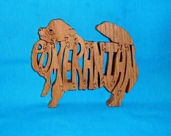 Pomeranian Dog Wooden Puzzle