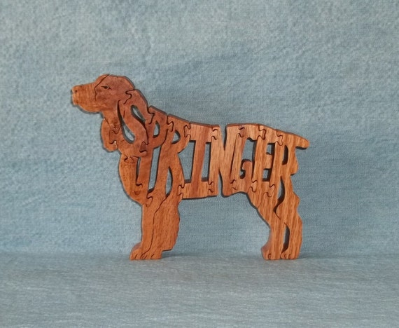 Springer (Spaniel) Dog Dog Breed Scroll Saw Wooden Puzzle