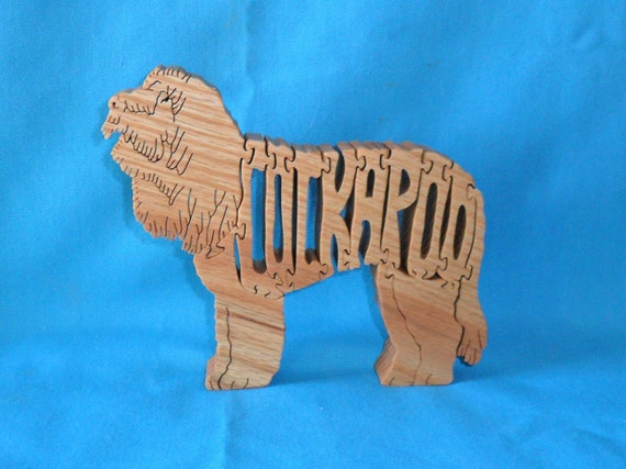 Cockapoo Dog Wooden Handmade Scroll Saw Puzzle