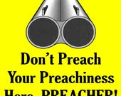 Don't Preach Soap Box Gun Vinyl Bumper Sticker