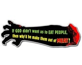 Zombie Bloody Arm Vinyl Bumper Sticker