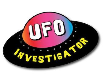 UFO Investigator Vinyl Car Bumper