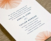 Burst - Flat, Letterpress or Foil Wedding Invitation - DEPOSIT