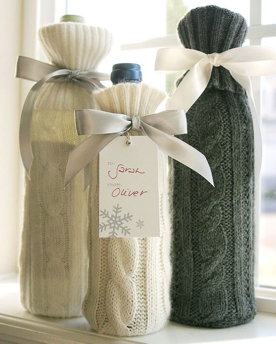 5 ways to gift wrap or decorate your wines wine talk for How to decorate a wine bottle for a gift