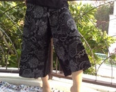 Lovely Black Cotton Fisherman Wrap Pants Beautiful For All Size (3/4 Lenght)
