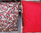 Red Skull Pillow