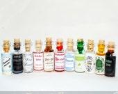 Snape's Potion Cabinet - Miniature Potion Bottle Eleven Piece Set