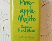 Pineapple Mojito - Organic Hand Wash 6oz - FREE Shipping in US- Pineapple, Mint and Cilantro scent