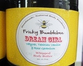 Whipped Body Butter 8oz.- Dream Girl- FREE Shipping in US-  Vetyver, Jasmine, Rose Geranium & Tahitian Vanilla scent