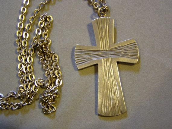 Vintage 1960s Pewter Jorgen Jensen Denmark Christian Cross Pendant Modern Design 2485